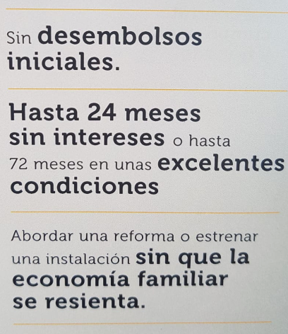 Financiación sin intereses