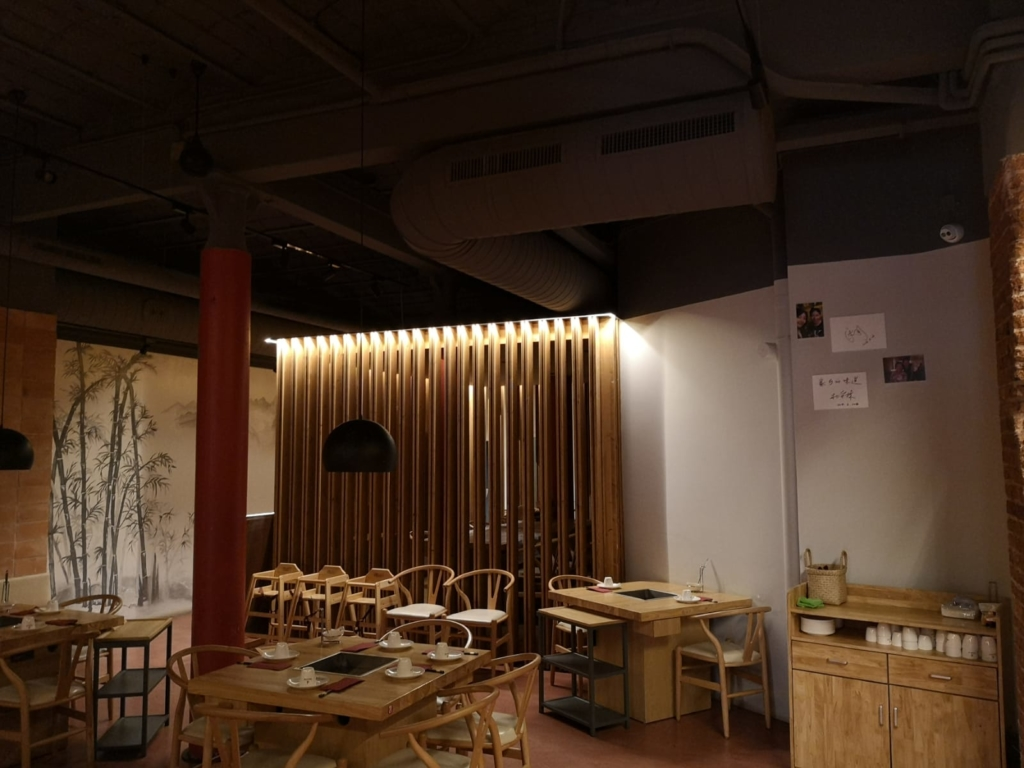climatización restaurante chino
